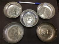 5 PC METAL COLLECTIBLE GROUP