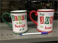 CHRISTMAS JESUS MUG PAIR