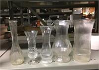GLASS VASES GROUP