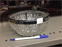 SILVER RIM BOWL - MADE IN ENGLAND