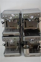 LOT OF FOUR BREVILLE COFFEE MAKERS- NOT