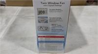 Sunbeam Twin Window Fan - 2 Settings