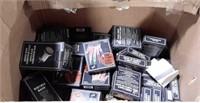 Box Lot of Bicycle Horns, Finger Lights, Megaphone