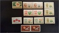 Selection of Mint Canadian 5 Cent Stamps