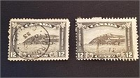 Early 20th Century Canadian 12 Cent Quebec Stamp/2