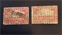 Canadian 1927 3 Cent Cancelled Stamps (2)