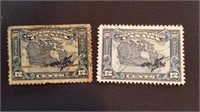 Canadian 1927 Map of Canada Stamps