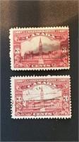 1927 Parliament Building 3 Cent Stamps (2)