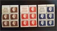 Circa 1950 Canadian Queen 1 Cent Stamp Page