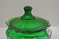 Emerald Green Biscuit Barrel