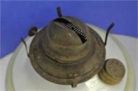 Antique Milk Glass Oil Lamp