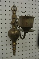 Pair of Brass Wall Candle Sconces