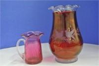 Cranberry Glass Lot