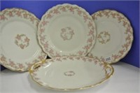 Bridal Rose Pattern Plates