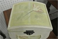 Tole Painted Wooden Chest