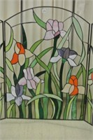 Artisan Stain Glass Bi-Fold Window Screen