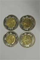 4 Canadian Toonie Collectable Coins