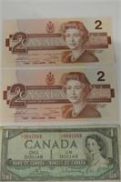 1954 Canadian Dollar Lot
