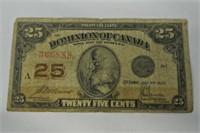 1870 .25c Dominion of Canada Bill Lot