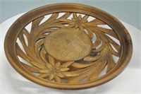 Switzerland Carved Shallow Centre Piece Bowl