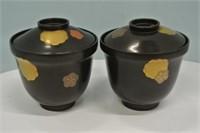 Unique Pair of Lidded Jars