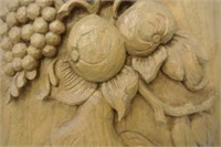 Hand Carved Wooden Wall Plaque