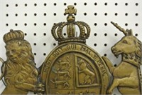 Brass Royal Coat Hanger Plaque