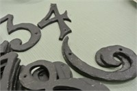 Painted Metal House Numbers