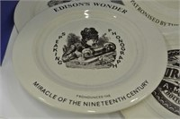 Set of 4 Ironstone Rustic Plates