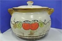 Large Pottery Lidded Chilli Pot
