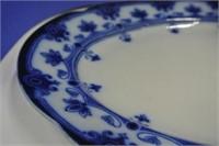 Beautiful Flow Blue Antique Platter