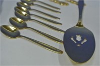 Rogers Gold Plated Cutlery Lot