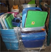 Pallet Lot of Totes, Containers and More