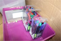 Pallet Lot of assorted Plastic Bins + A few extras