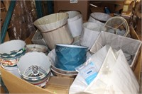 Pallet Lot of Mostly New Lamp Shades
