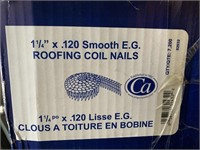 7200 (Case) 1 1/4 Inch .120 Roofing Coil Nails