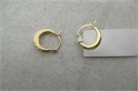 Duragold 14k Yellow Gold Round Hoop Earrings
