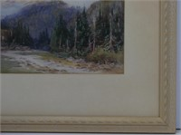 ROBERT FORD GAGEN MOUNTAIN STREAM WATERCOLOUR