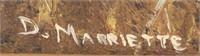 DOLORES MARRIETTE GEESE IN FLIGHT OIL ON BOARD