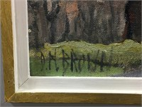 "DOROTHY N. BROWN ""DROWSY AUTUMN"" OIL ON BOARD"