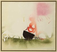 FRITZ FROHLICH '67 ABSTRACT WATERCOLOUR