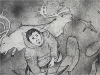 """ANDREW KARPIK """"EAGER FOR A CATCH"""" ETCHING"""