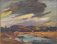 """H.V. VICK """"NORTH COUNTRY"""" OIL ON BOARD"""