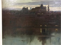 MAURICE CULLEN CHATEAU FRONTENAC OIL ON CANVAS