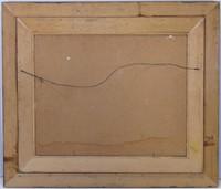 J. M. GURNOCK UNTITLED WINTER RIVER OIL ON BOARD