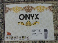 NEW ONYX RED FIELD MACHINE MADE PERSIAN CARPET