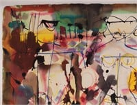 WILLIAM RONALD '96 ABSTRACT NUDES WATERCOLOUR