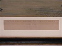 AYLESBURY GRAND STEEPLE CHASE ANTIQUE PRINT
