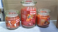 Box Lot of Yankee Apple and Pumpkin Candles - NEW