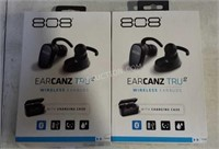 Lot of 2 Sets of Wireless Earbuds With Case - NEW